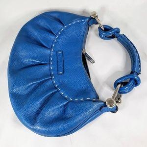 BCBG Max Azria Blue Leather Demi Handbag